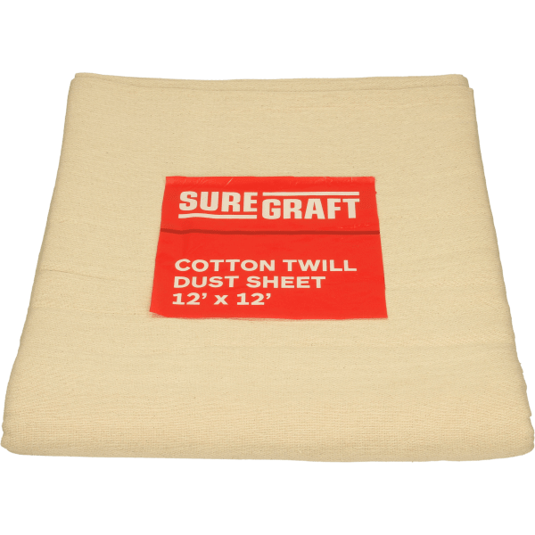 Suregraft Cotton Dust Sheet 12FT X 12FT