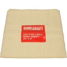 Suregraft Cotton Dust Sheet - 24FT x 3FT