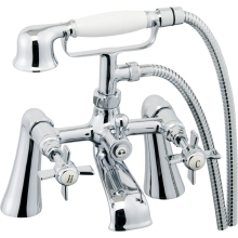 Suregraft Edwardian Style Bath/Shower Mixer & Hose/Handset - Chrome