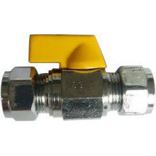 Suregraft Gas Mini Ball Valve Chrome Plated 10MM X 10MM