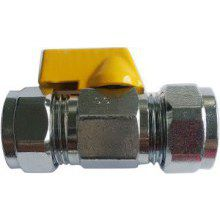 Suregraft Gas Mini Ball Valve Chrome Plated 15MM X 15MM
