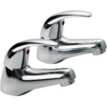 Suregraft Genoa Bath Taps Pair Chrome Plated
