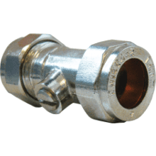 Suregraft Isolating Valve 15 x 15mm Chrome WRAS