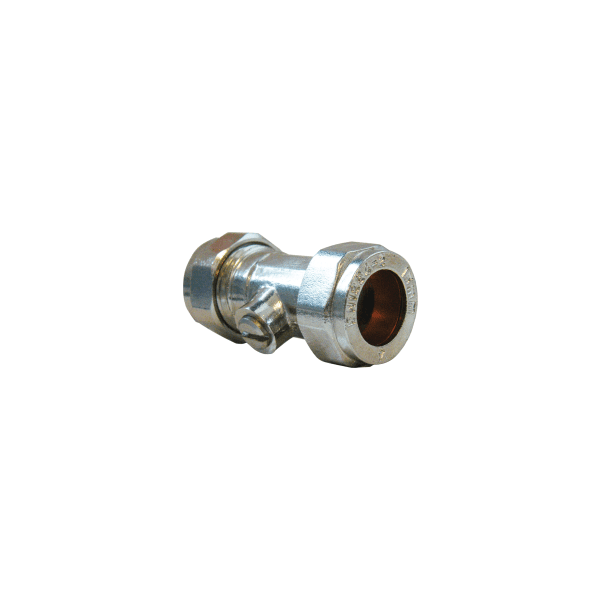 Suregraft Isolating Valve 15mm x 15mm - Chrome