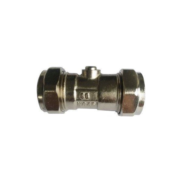 Suregraft Isolating Valve WRAS Chrome Plated 22MM X 22MM