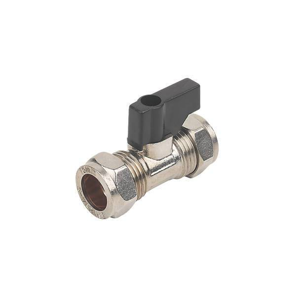 Suregraft Isolating Valve with Handle Chrome 15mm