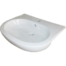 Suregraft Laredo 56cm 1 Taphole Semi Recess Basin White