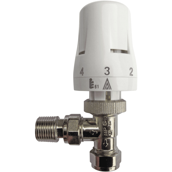 Suregraft Linear 15mm Angled Thermostatic Radiator Valve