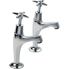 Suregraft Linear X top sink Taps Pair Chrome Plated