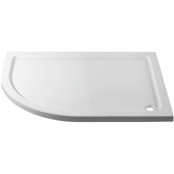 Suregraft 1200mm x 900mm Low Level Quadrant Stone Tray - Left Hand