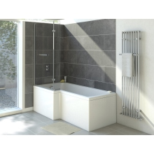 Suregraft L-Shaped Bath Screen (6mm) 1400mm x 820mm - Chrome