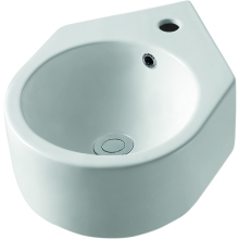 Suregraft Nelio 330mm Corner Basin 1 Tap Hole White