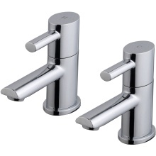 Suregraft Oval Basin Taps Chrome Plated
