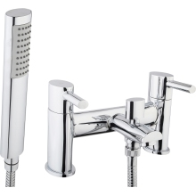 Suregraft Oval Bath/Shower Mixer & Hose/Handset - Chrome
