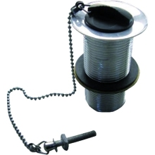 Suregraft Slotted Basin Waste Plug & Chain Black