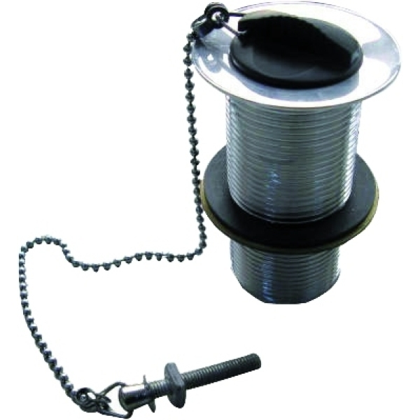 Suregraft Plug & Chain Slotted Basin Waste 32mm Black