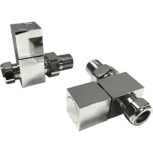 Suregraft Square Radiator Valve Straight