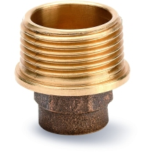 "Taper Coupler Male 22mm X 3/4"" Bronze"