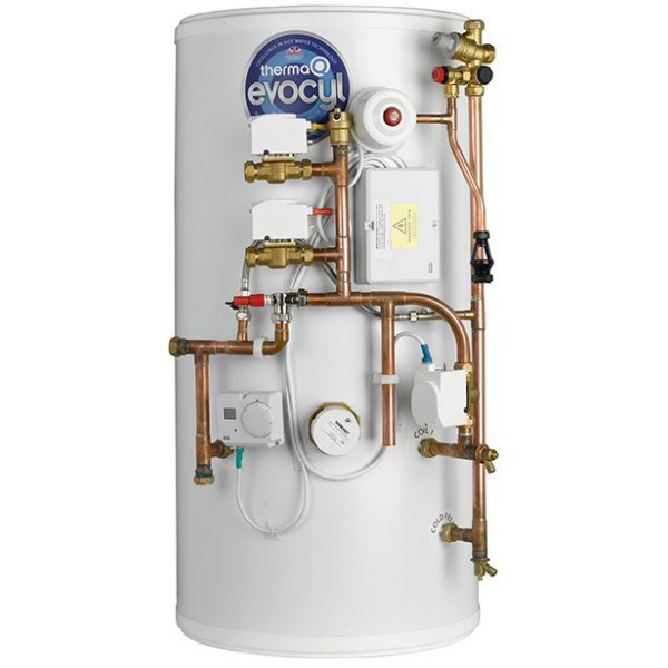 ThermaQ Evocyl System Pre-Plumbed Twin Zone Cylinder 300L