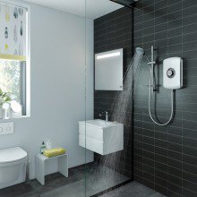 Triton Amore 9.5kW Electric Shower White Gloss