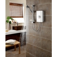 Triton Aspirante 8.5kW Electric Shower - White Gloss