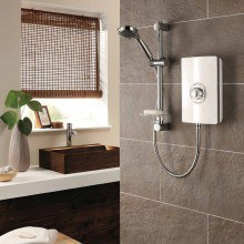 Triton Aspirante 9.5kW Electric Shower - White Gloss