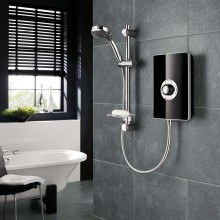 Triton Aspirante 9.5kW Electric Shower - Black Gloss