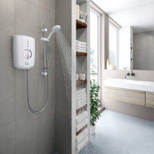 Triton T150+ 9.5kW Thermostatic Electric Shower - White