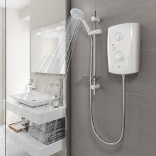 Triton T80 Pro-Fit 10.5kW Electric Shower - White/Chrome