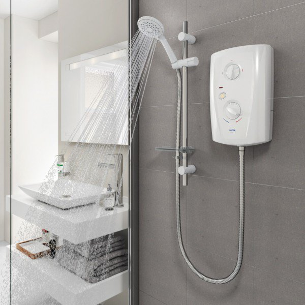 Triton T80 Pro-Fit Eco 8.5kW Electric Shower - White