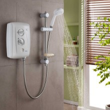 Triton T80Z Fast-Fit 9.5kW Electric Shower - White/Chrome