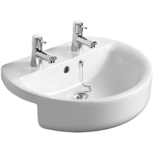 Ideal Standard Concept Sphere 55cm Semi Countertop Basin Two Taphole