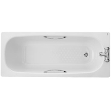 Twyford 540 x 700 x 1600mm Celtic Bath 2 Tap Legs and Grips White