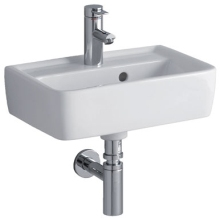 Twyford Galerie 500x380mm Galerie Plan Washbasin 1 Taphole White