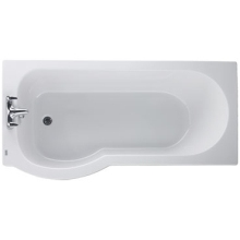 Twyford Galerie Optimise 1500mm Offset Shower Bath Right Hand 2 Tapholes White