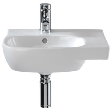 Twyford Moda 450x350mm Offset Washbasin 1 Taphole White