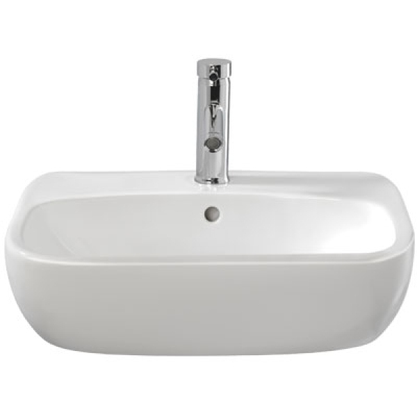Twyford Moda 560x440mm Washbasin 1 Taphole Semi Recessed Including Fixings White