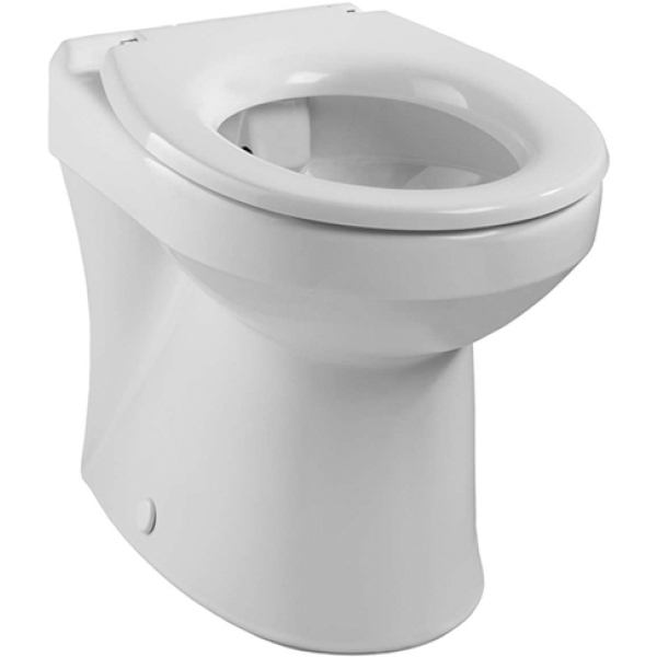 Twyford Sola Rimless Back To Wall WC Pan - White