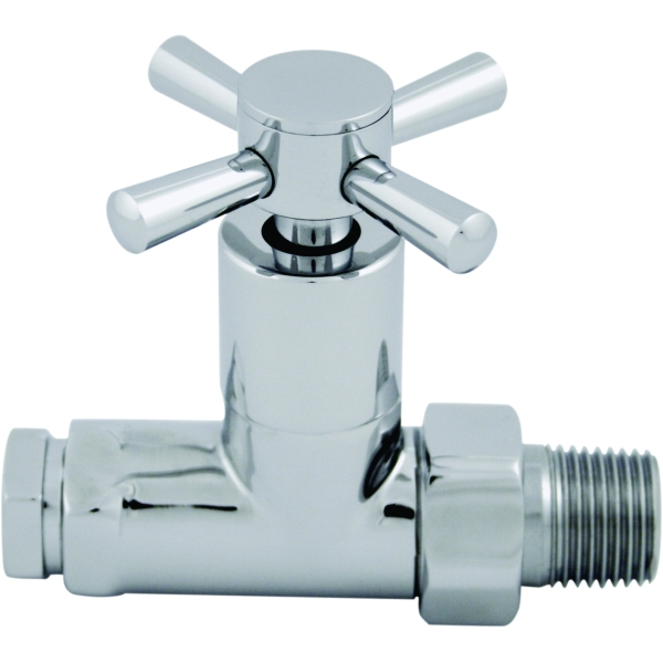 Ultima Quattro Radiator Valve 15mm Chrome Straight