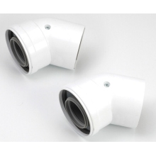 Viessmann SC 45° Flue Elbow 60/100mm (Pair)