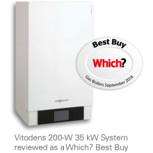 Viessmann Vitodens 200-W 35kW Combi Boiler with Vitotronic 200 Weather Comp