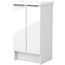 Vio 500mm Freestanding Double Door Washbasin Unit Only -White Gloss
