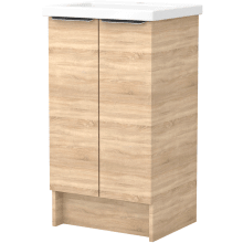 Vio 500mm Freestanding Double Door Washbasin Unit Only -Natural Oak