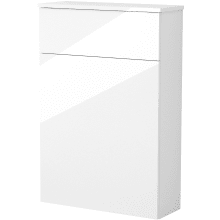 Vio 600mm Toilet Unit -White Gloss