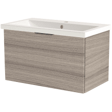 Vio 800mm Wall-Hung Single Drawer Washbasin Unit Only -Drift