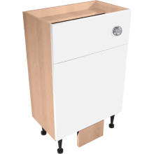 Vio Back to Wall Toilet Unit inc. Cistern 500 x 200 x 835mm Source White Gloss Walnut