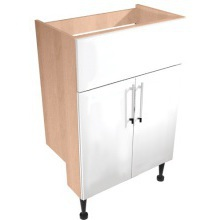 Vio Cut Out Semi Recess Washbasin Unit 600mm Eden