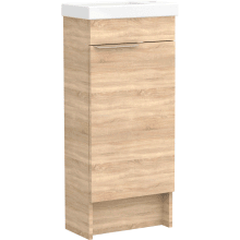 Vio Freestanding Cloakroom Washbasin Unit Only Rh -Natural Oak