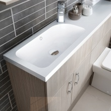Vio Mineralcast Basin and Worktop Left Hand 1210 x 300 x 28mm
