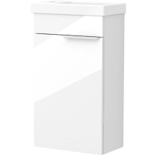 Vio Wall-Hung Cloakroom Washbasin Unit Only Lh -White Gloss